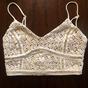 Kendall and Kylie White lace top XS